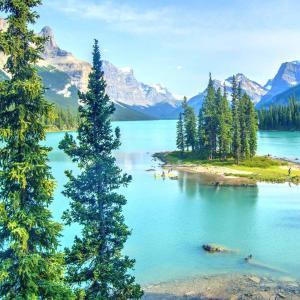 Canadian Rockies Scenic Wilderness Lake