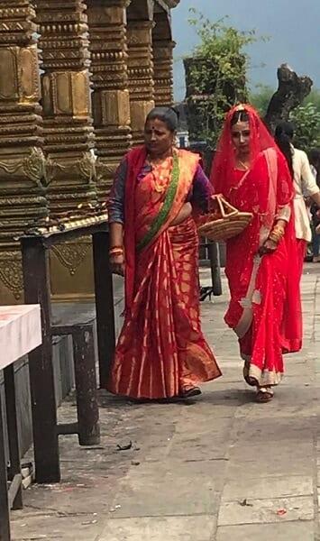 Homestay Women Receiving Blessing