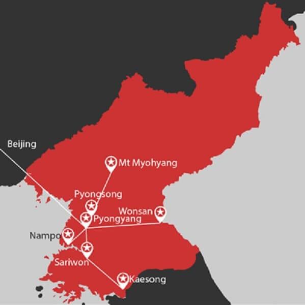 North Korea Language Immersion Map